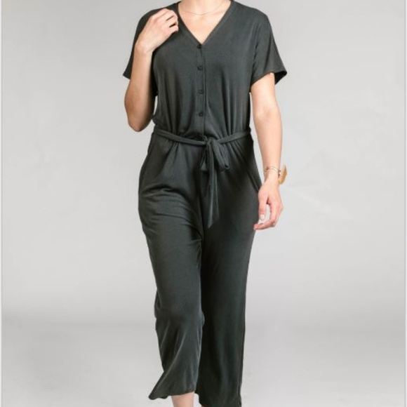 28b5031c08c2 Agnes   Dora Belted Jumpsuit Black Small